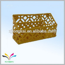 China supplier own factory yellow powder coated office supplies pen holder