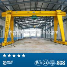 grúa de pórtico de sola viga cadena eléctrico elevador utilizado 20 toneladas