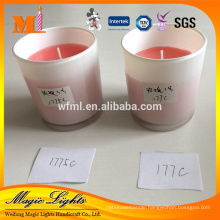 Pillar Shape and Aromatherapy Type Scented Glass Cup Candle