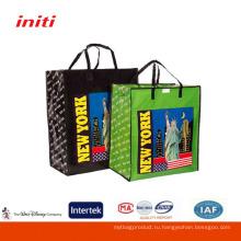 Экологичное качество печати Ламинированные плетеные сумки для покупок торговых сумка