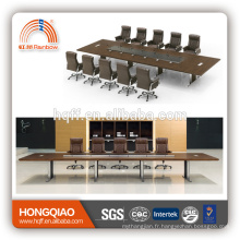 DT-08-1 MDF table de réunion pour 12 personnes cadre en acier inoxydable pour 6M tables de conférence à vendre
