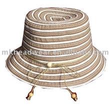 Chapeau d'été de mode en bande de tissu