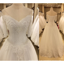 Nuevo vestido de boda de la llegada 2017 con las mangas
