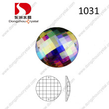 Ab Round Flat Back Glass Stone for Clothing Accessories
