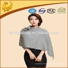 Chine usine en fil de teint en gros en mousseline de soie en cachemire