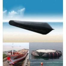 Navio marinho lançando airbags usado para reflexão de salvamento de navio afundado, levantamento pesado e deslocamento