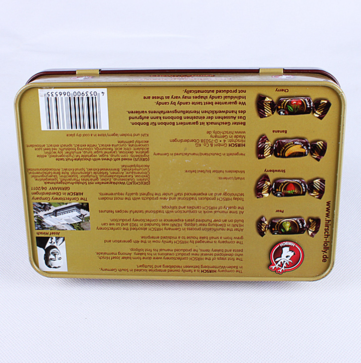 Rektangel Candy Storage Tin Can