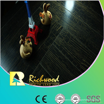 Household 12.3mm E1 Mirror Walnut Waterproof Laminate Flooring