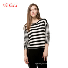 Women Long Sleeve Stripe T-Shirt