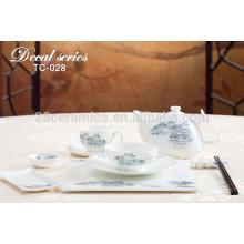 popular design porcelain enamel dinnerware , sublimation table set