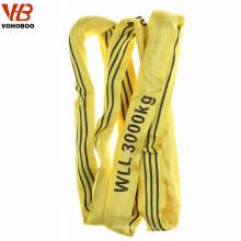 Vente en gros de polyester de levage Sling nouveau 22000 lbs Panier 4 pouces de 12 pieds