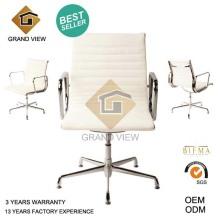 Chaise pivotante ergonomique de cuir blanc (GV-EA108)