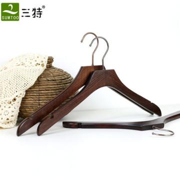 ganchos de madeira do vestido de casamento luxuoso por atacado