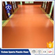 Embossed Tearproof Plastic Floorings Commercial Room use Plastic Floor