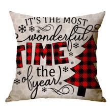 New Christmas Plain Style Hot Amazon Throw Cushion Cover