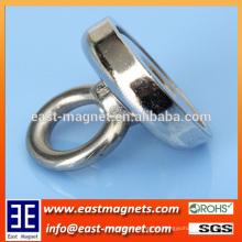 Potes del imán del neodimio con los anillos del imán del anillo del gancho / del ndfeb para la venta