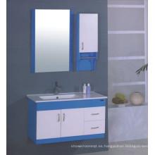 Muebles del gabinete de cuarto de baño del PVC de los 90cm (B-506)