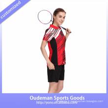 2017 Dry fit nouveau design femmes badminton uniforme