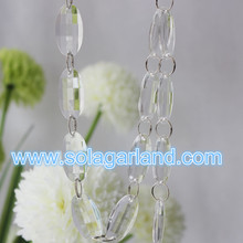 Acrylic Crystal Faceted Oval Bead Tree Garland Door For Wedding Decoration