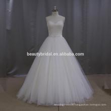 New model polyester dress a line short description of wedding dress