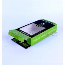 Emballage de boîte de chargeur d'USB de papier de carte de conception de coutume