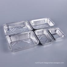 Rectangular tin foil disposable tin tray