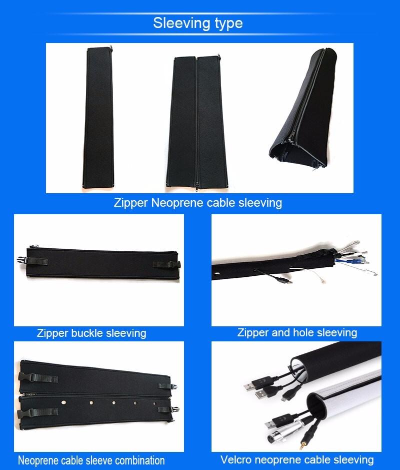 Black Neoprene Braided Cable Sleeving