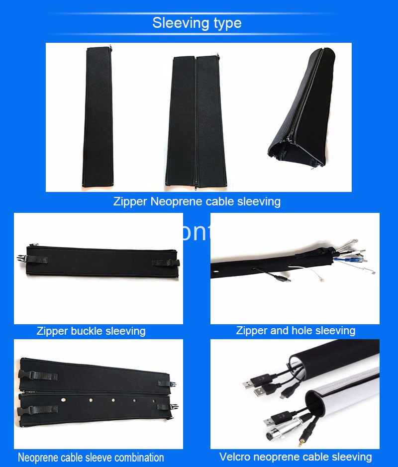 Black Neoprene Braided Cable Sleeving