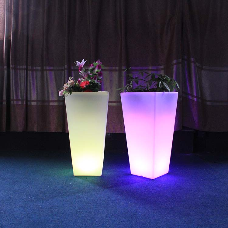 Outdoor Decoration Garden Light Up Led Flower Pots