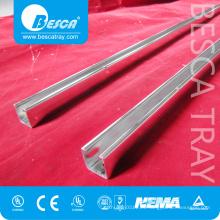 Fabricante del canal del puntal de acero al aire libre no ranurado 41 * 41m m