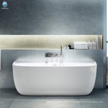 Foshan usine vente directe salle de bain coin grand spa baignoire / mat finition solide surfacec baignoire d'angle