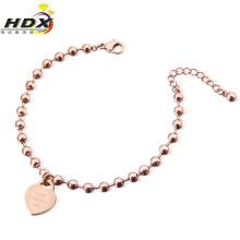 Fashion Jewelry Stainless Steel Heart-Shaped Bracelet