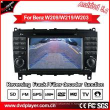 Auto DVD pour Benz Clk W209 / Cls W219 Navigation GPS Android Récepteur