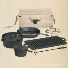 Preseasoned ferro fundido holandês forno Outdoor Camping Set