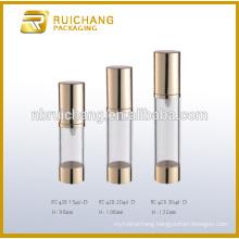 15ml/20ml/30ml aluminium cosmetic airless bottle,metallic cream airless bottle,cosmetic pump sprayer bottle