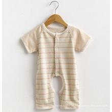 Kurze Ärmel Striped Baby Spielanzug