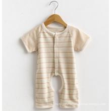 Short Sleeves Striped Baby Romper