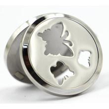 Butterfly Magnet Style 30mm Rd en acier inoxydable Parfum Locket