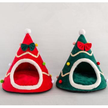 Креативная палатка для домашних животных, новогодняя шапка, питомник для собак