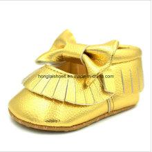 Couro sapatos de bebê de Toddler Indoor 02
