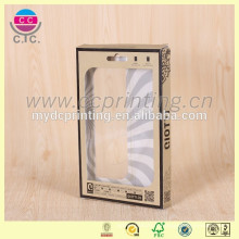 Boîte de empaquetage de fenêtre de PVC de fantaisie de pliage pour des couvertures de téléphone