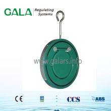 Single Door Wafer Tipo Válvula de Retenção em Aço Carbono