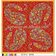 Latest square scarves digital printing silks
