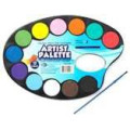 PALETTE AND WATERCOLOR PAINT