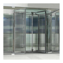 3/4 wings Crystal Automatic/Manual Revolving Door for office building
