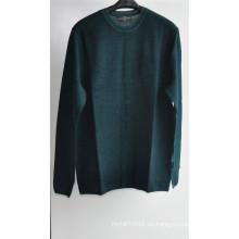 Cuello redondo puro color jersey de punto suéter hombres