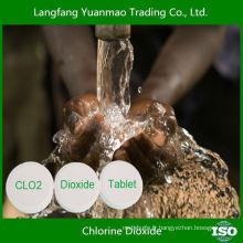 Tablette de dioxyde de chlore désinfectant pour l'eau pour traitement de l'eau