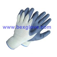 10 Gauge Polyester Liner, Nitrile Coating, Foam Finish Safety Gloves