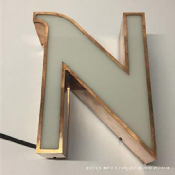 Les lettres de canal de la résine LED d'époxyde de Front-Allumée par publicité de signe signent le signe d'alphabet