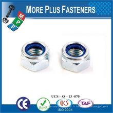 Fabriqué à Taiwan M4-0.7 DIN 985 Grade A2 en acier inoxydable Nylon Insert Lock Nut